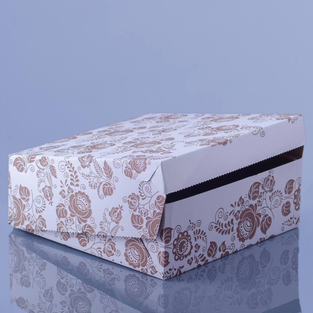26b48975e1 Krabica na zákusky 19x19x10cm ľudový vzor   1ks